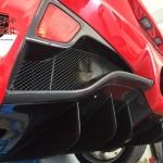 Exotic car gear  ferrari 458 Rear Diffuser 1x1 carbon fiber - Copy