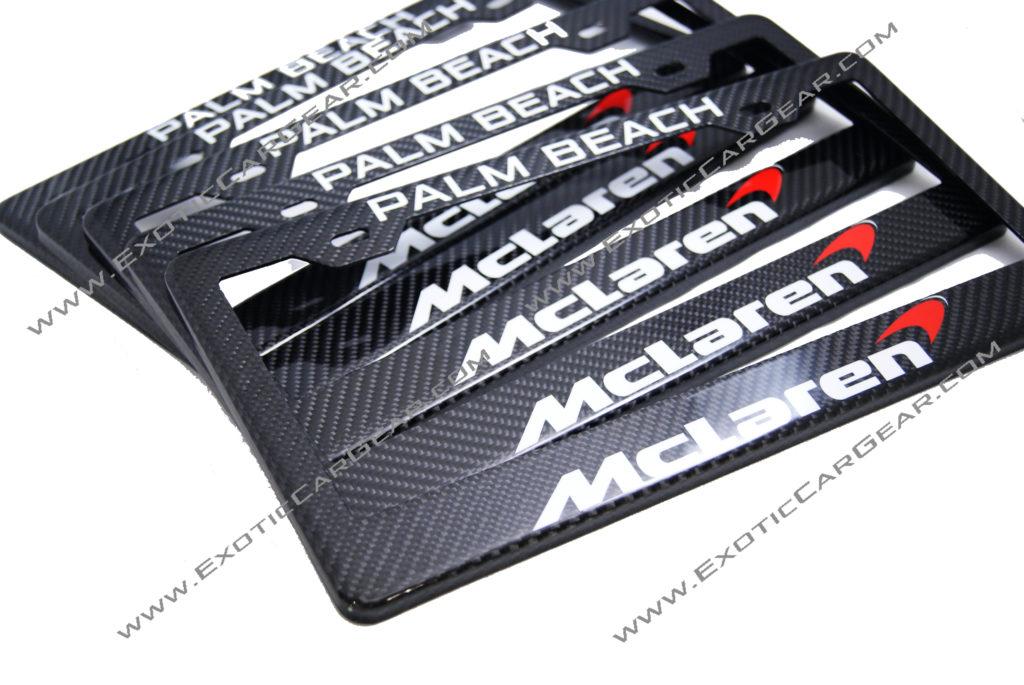 Custom Carbon Fiber License Plate Frames - Exotic Car Gear, Inc.