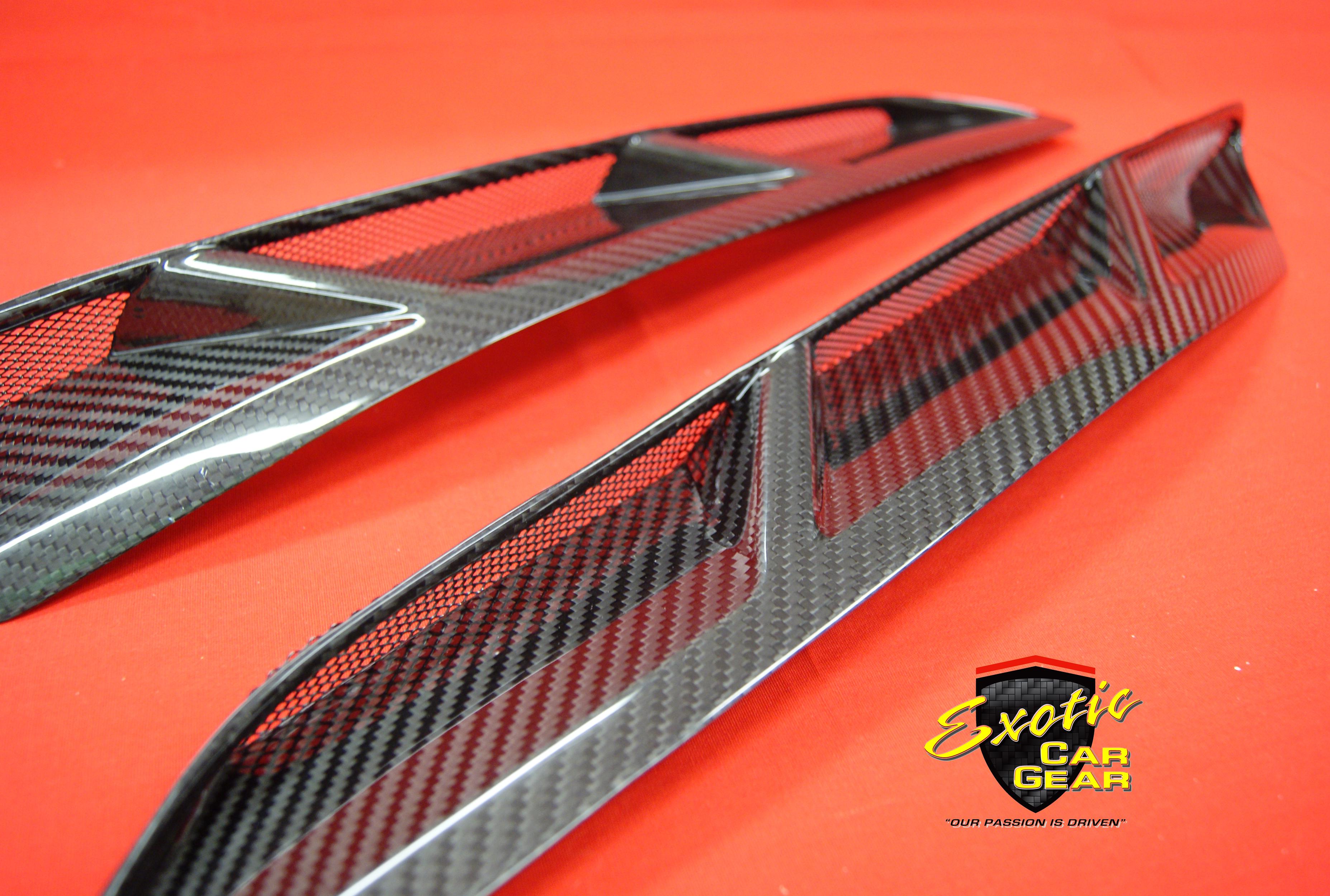 Carbon Fiber Front Fender Vents Exotic Car Gear Inc